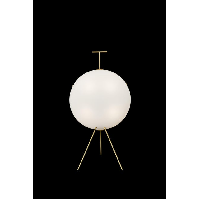 Not Yet Made - Made To Order Gio Ponti Luna Verticale Floor Lamp in Brass For Sale - Image 5 of 6