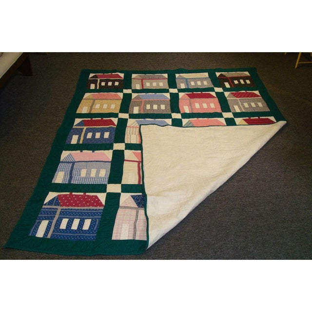 Early 20thC. Folky School House Quilt - Image 2 of 9