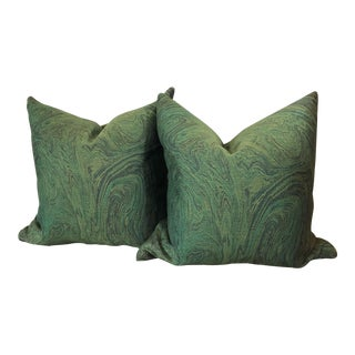 Green Lava Pillows - a Pair For Sale