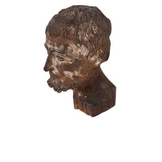 16th Century Spanish Colonial Hand Carved Missionary Wooden Head