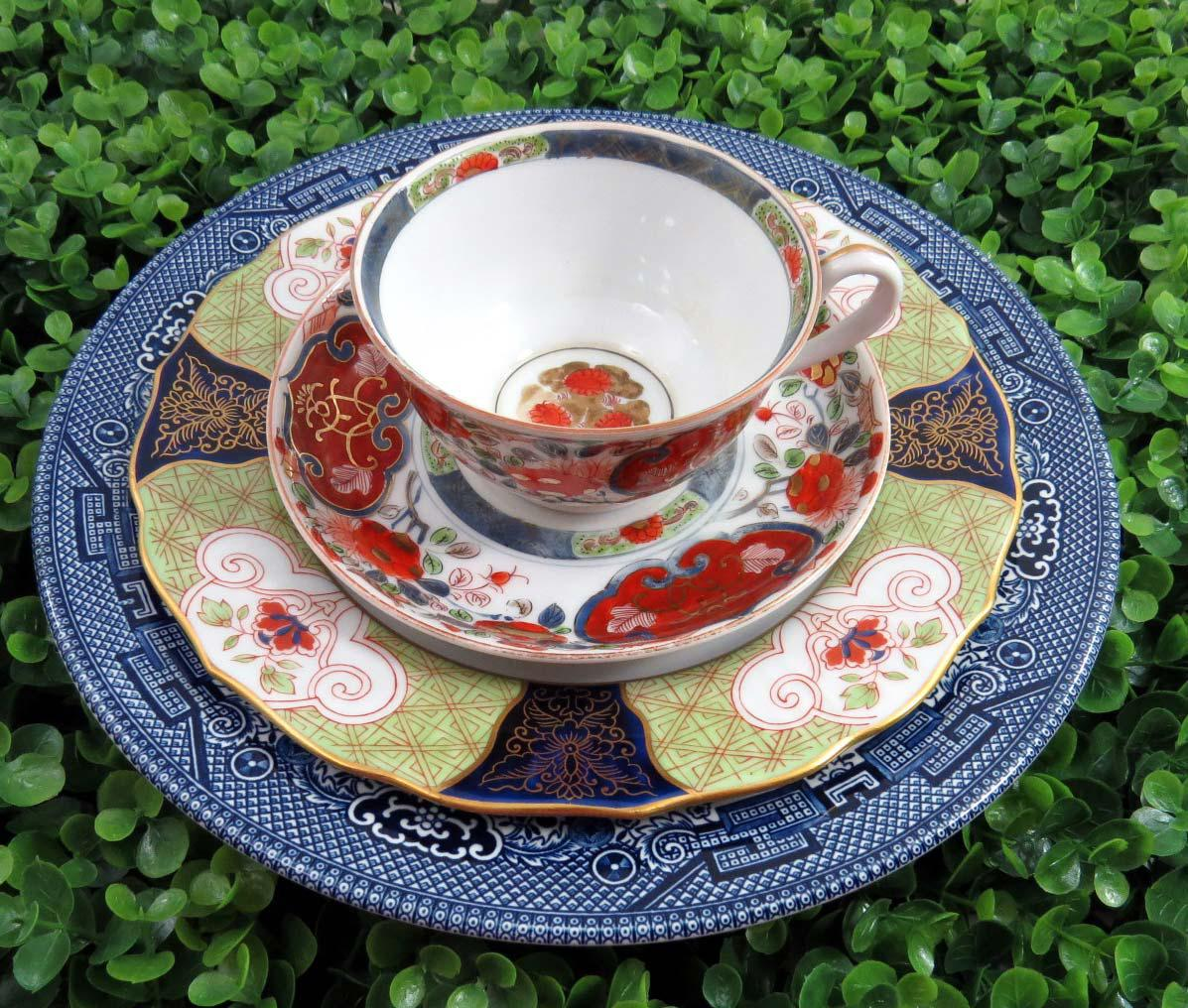 Mismatched Imari Dinnerware Set Service for 4 - Image 5 of 10 : mismatched dinnerware set - pezcame.com