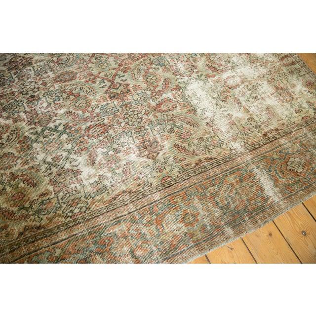 "Textile Vintage Distressed Fragment Mahal Carpet - 7'2"" X 9'6"" For Sale - Image 7 of 12"