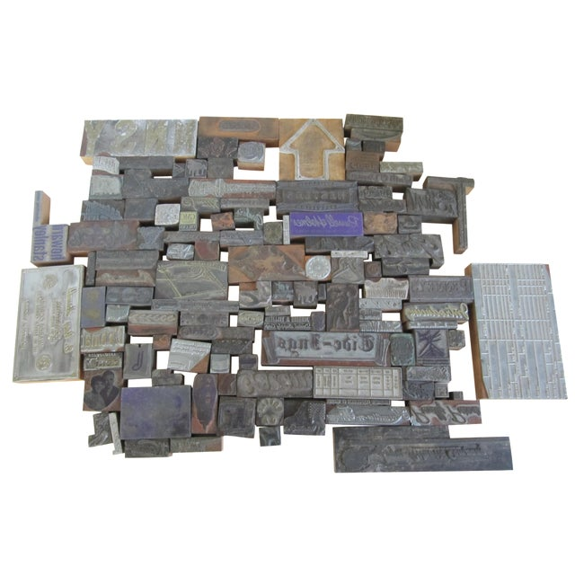 Vintage Letterpress Blocks - 116 Pieces - Image 1 of 6
