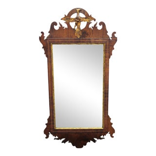 American Federal Mirror with Scrollwork and Carved Eagle For Sale