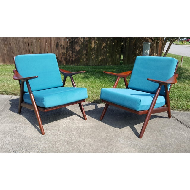 1960s Danish Modern Hovmand Olsen Lounge Chairs - a Pair For Sale - Image 13 of 13