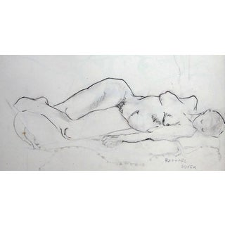 "Rafael Soyer ""Resting Nude"" Drawing For Sale"