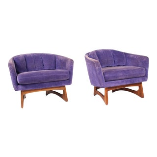 Craft Associates Low & Wide Barrel Chairs - a Pair