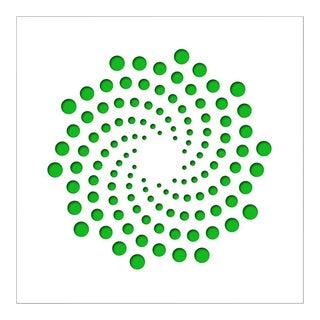 Chuck Krause Spirals (Green), original three dimensional geometric design wall relief 2020 For Sale