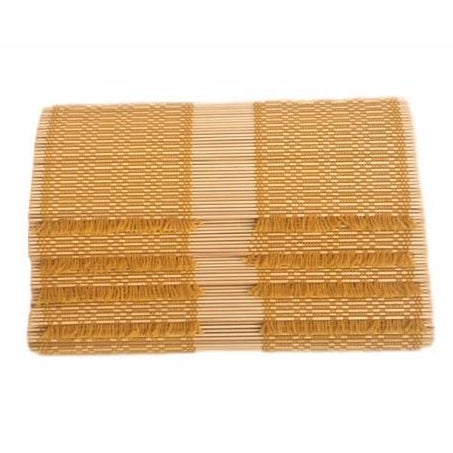 Mustard Woven Straw Placemats - Set of 4 - Image 1 of 5