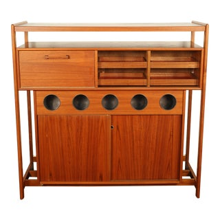 Dyrlund Danish Modern Teak Dry Bar For Sale