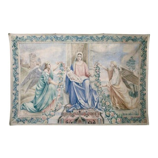 Antique Italian Sucre De Herb Tapestry For Sale