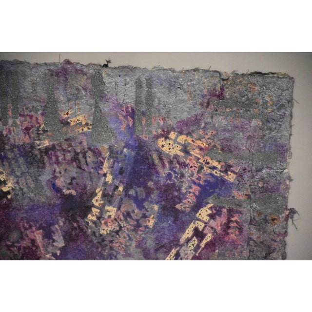 Abstract Purple Abstract Modern Art For Sale - Image 3 of 10