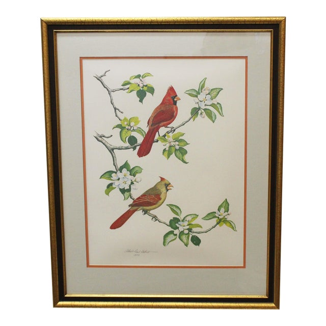 The Cardinal Lithograph by Albert Earl Gilbert For Sale