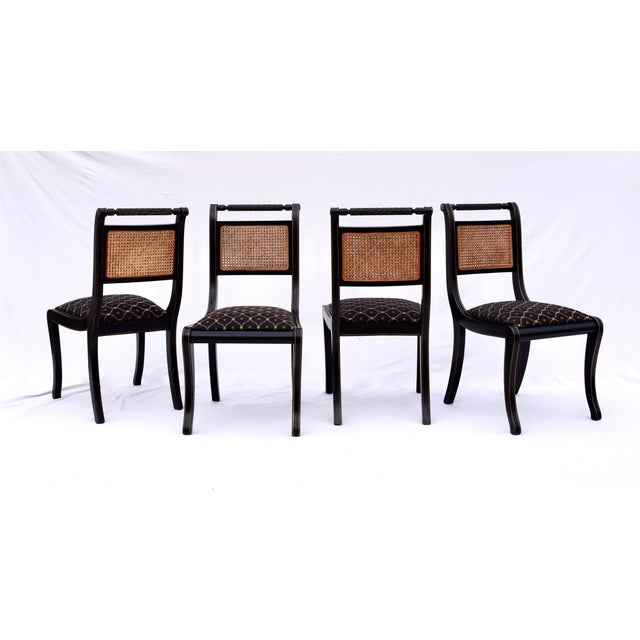 Baker Furniture Company Regency Double Caned Dining Chairs Made in Italy, Set of 8 For Sale - Image 4 of 13