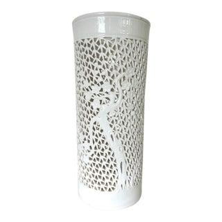 Vintage Blanc De Chine Lamp Base or Candle Holder