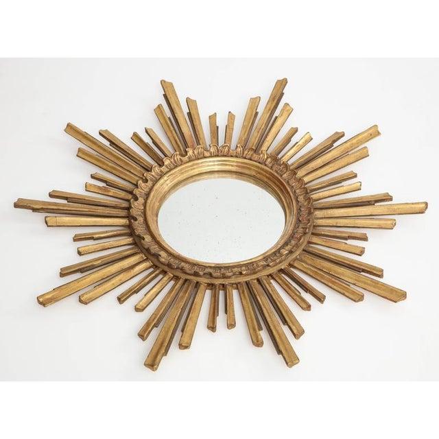 Mid-Century Modern Giltwood Sunburst Mirror For Sale - Image 3 of 8