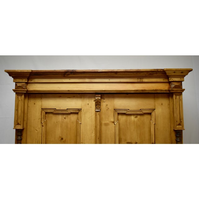 Pine Two Door Armoire For Sale - Image 9 of 13