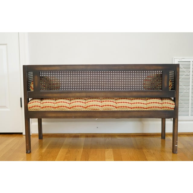 Mid-Century Modern Lewitte's Cane Settee For Sale - Image 10 of 11