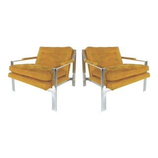 Mid-Century Modern Chrome Chairs by Cy Mann-A Pair For Sale