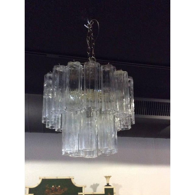 Vintage Murano Glass Chandelier Tronchi - Image 6 of 11