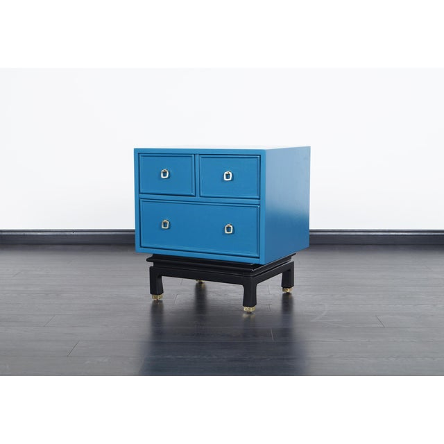 1960s Vintage Lacquered Nightstands by American of Martinsville For Sale - Image 5 of 8