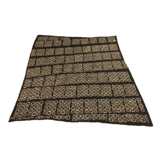 African Mud Cloth Throw For Sale