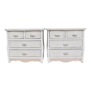 Rattan Chests Of Drawers - a Pair
