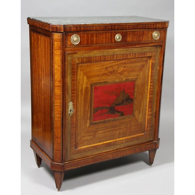 Dutch Neoclassical Satinwood and Japanned Cabinet For Sale - Image 4 of 13