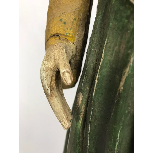 Rustic Primitive Philippine Santos Figure of a Saint For Sale In Portland, OR - Image 6 of 7
