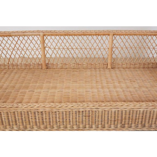 McGuire Organic Modern Rattan and Wicker Daybed Sofa For Sale - Image 9 of 13