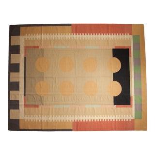 """Vintage Contemporary Kilim Carpet - 9'1"""" X 11'8"""" For Sale"""