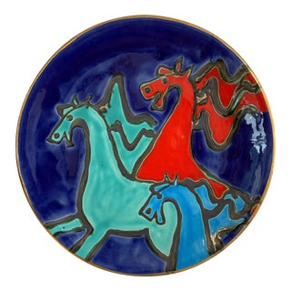 Suzanne Wallace Mears Horse Platter For Sale