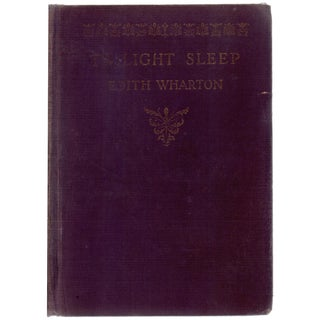 """Twilight Sleep"" Book Circa 1927"