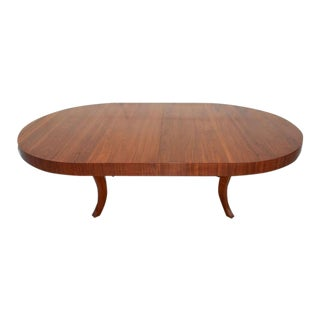 Mid Century Expanding Oval Dining Table For Sale