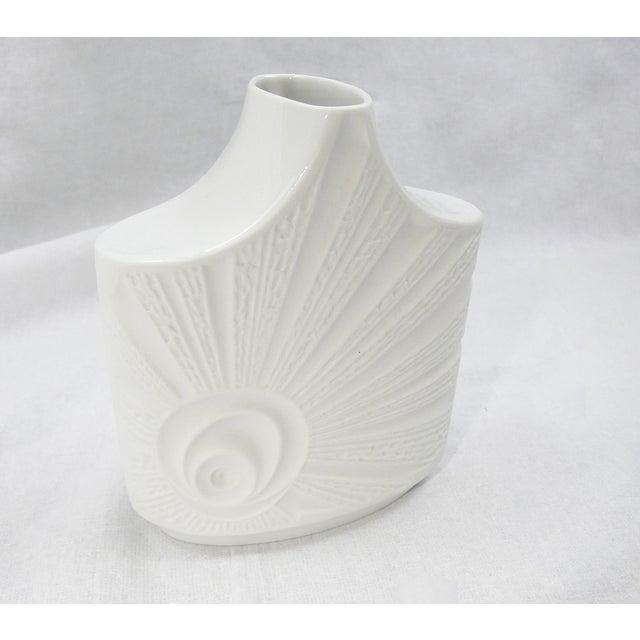 Vintage Mid-Century Bisque Porcelain Vase For Sale - Image 4 of 6