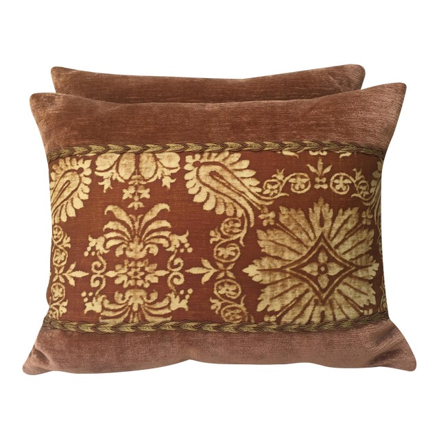 Fortuny Textile Pillows - A Pair - Image 1 of 5