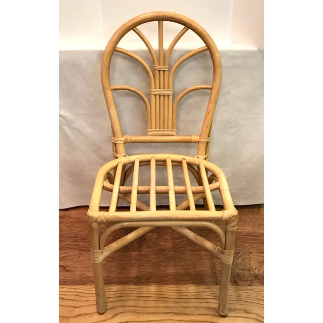 Vintage Mid Century Bamboo Chair For Sale - Image 10 of 10