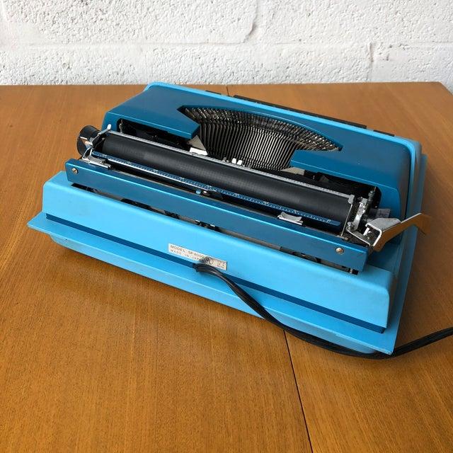 Sky Blue Vintage Mid Century Modern Royal Portable Typewriter For Sale - Image 8 of 11
