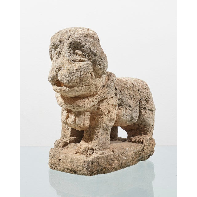 17th Century Charming Italian 17th Century Carved Stone Dog For Sale - Image 5 of 5