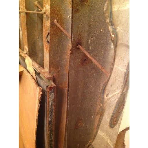 Tom Greene Vintage Brutalist Metal Wall Mirror - Image 8 of 9