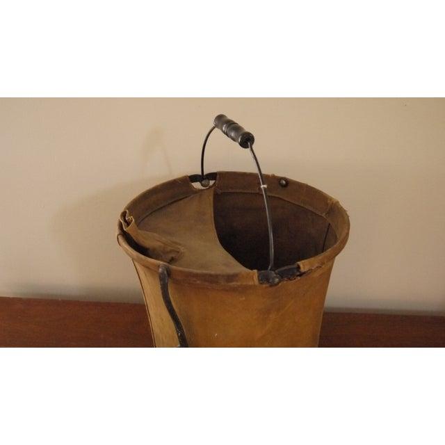 Vintage Canvas Army Bucket - Image 3 of 5