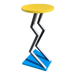 Memphis Milano Michele De Lucci Style Pedestal Table, 1990's For Sale