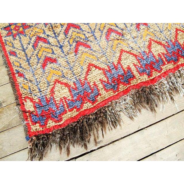 Vintage Brown Persian Tribal Rug - 2′8″ × 3′5″ - Image 5 of 6