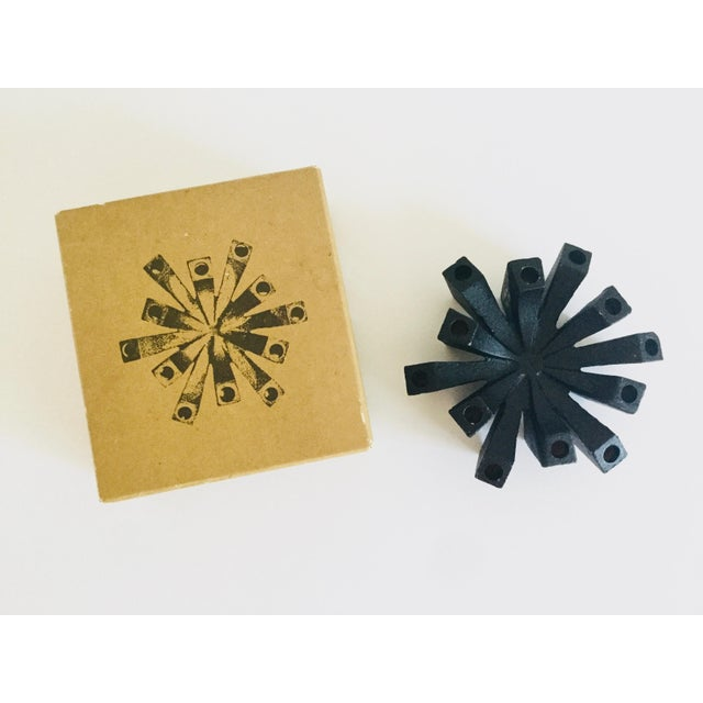 This is a handmade cast iron Hallmark Candles Inc. Danish taper candle holder in its original box. Manufactured in the...