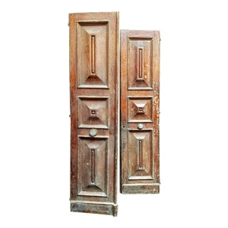 19th Century French Haussmannienne Double Panel Doors - a Pair For Sale