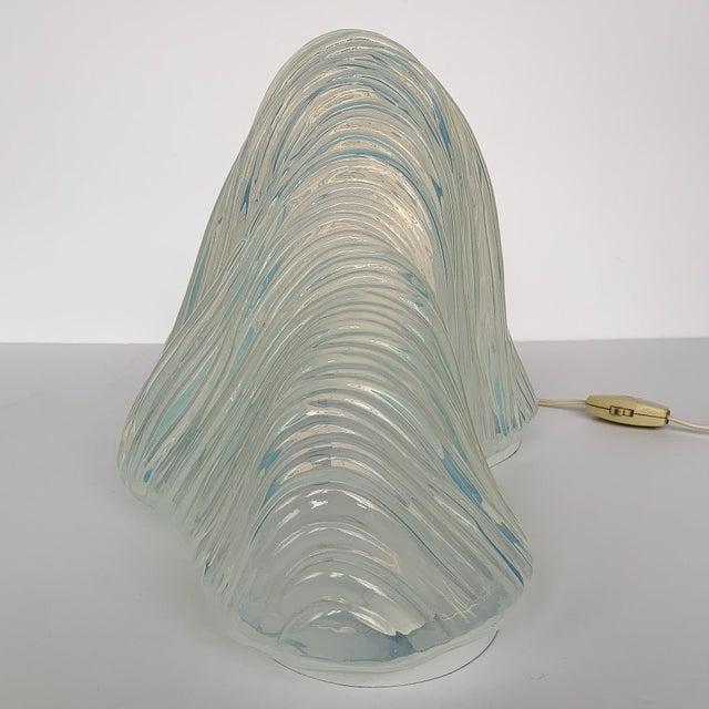 "White Carlo Nason ""Iceberg"" Mazzega Sculptural Glass Table Lamp For Sale - Image 8 of 13"