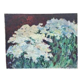 1970s Vintage Impressionistic Botanical on Canvas For Sale