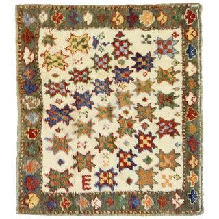 1930s Vintage Turkish Oushak Rug - 3′1″ × 3′6″ For Sale