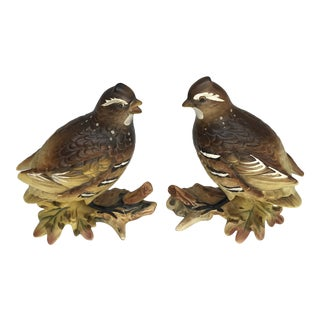 Vintage Partridge Figures With Autumn Coloring - a Pair For Sale