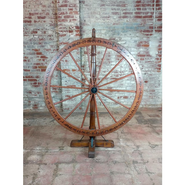 19th century Large Saloon Gaming spinning wheel of fortune For Sale - Image 12 of 12